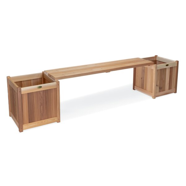 Ardoin 3 Piece Planter with Bench by Union Rustic