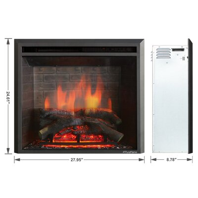 Armes 33 black 7501500w western electric fireplace insert allmodern armes 33 black 7501500w western electric fireplace insert solutioingenieria Images