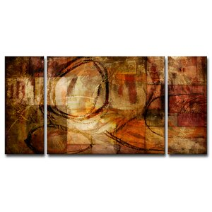 ETABX III 3 Piece Painting Print on Wrapped Canvas Set by Ready2hangart