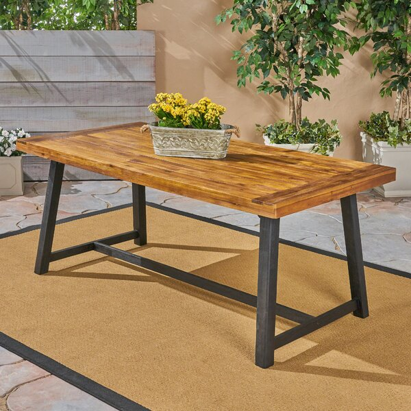 Liberatore Solid Wood Dining Table by Union Rustic