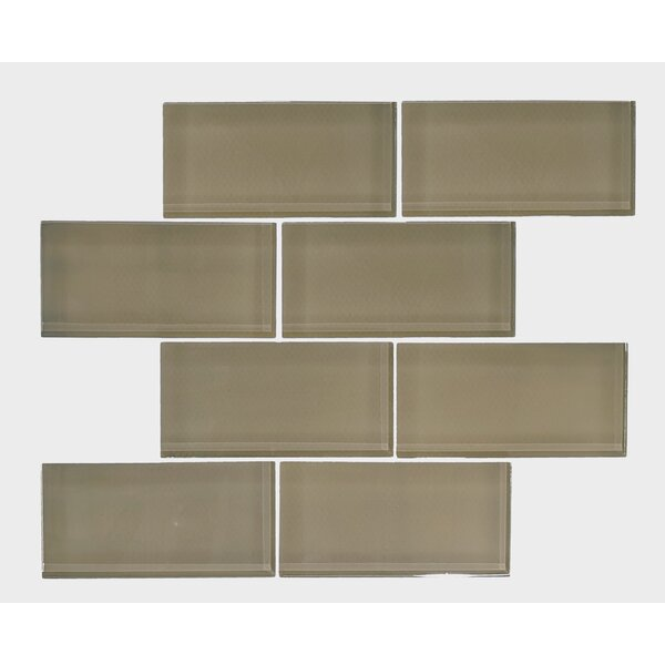 Premium Series 3 x 6 Glass Subway Tile in Forest by WS Tiles