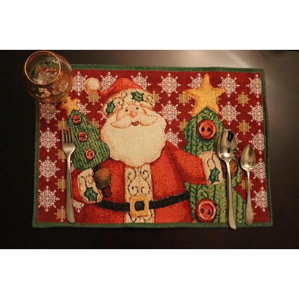 Santa Claus is Comin to Town Placemat (Set of 4) by Tache Home Fashion