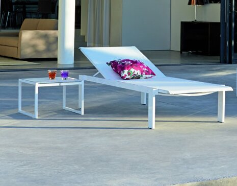 Santistevan Reclining Chaise Lounge With Table By Orren Ellis