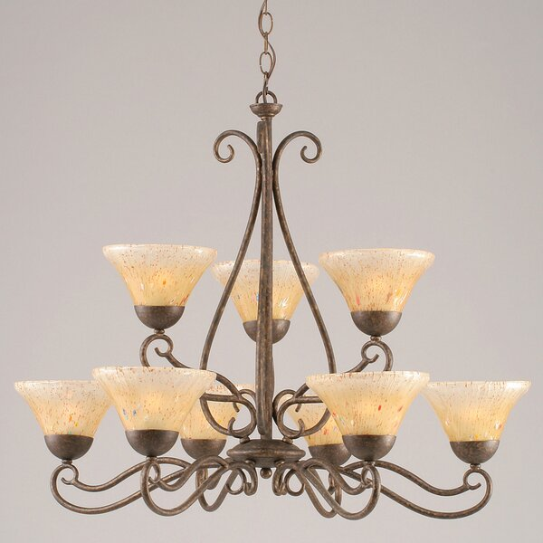 Rati 9 - Light Shaded Tiered Chandelier by Fleur De Lis Living Fleur De Lis Living