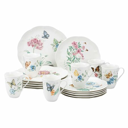 Butterfly Meadow 18 Piece Dinnerware Set, Service for 6 by Lenox