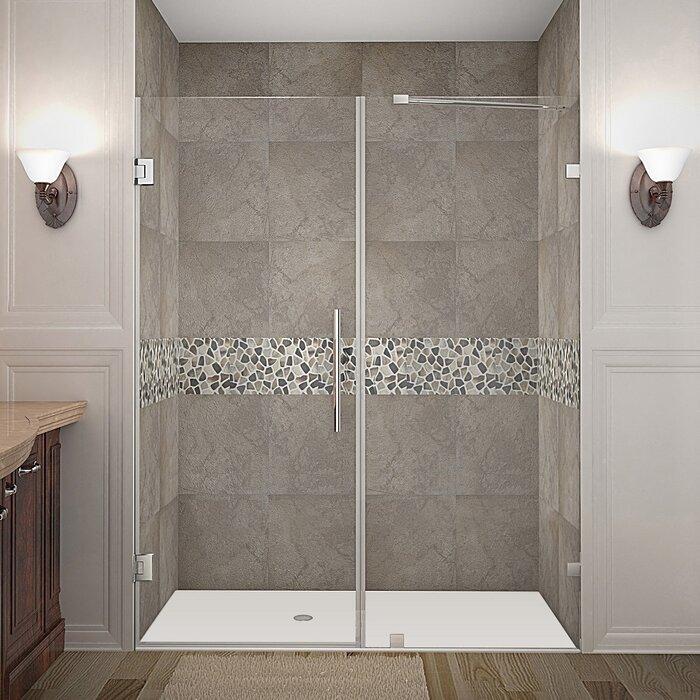 Nautis 60 X 72 Hinged Completely Frameless Shower Door