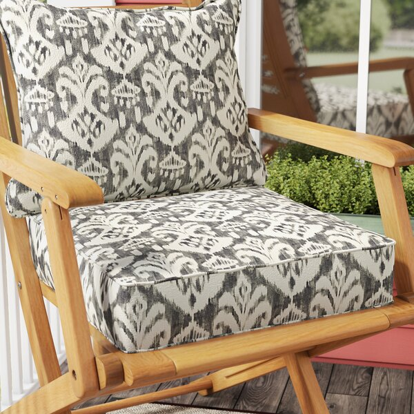 Peabody Indoor/Outdoor Lounge Chair Cushion by Andover Mills