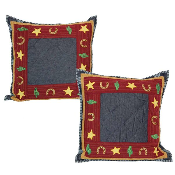Lil Buckaroo Cotton Throw Pillow (Set of 2) by Patch Magic