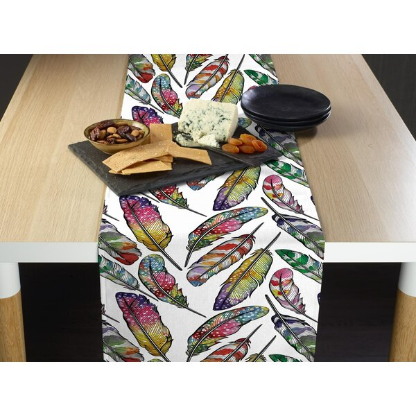 Aislinn Feathers Table Runner by Bungalow Rose