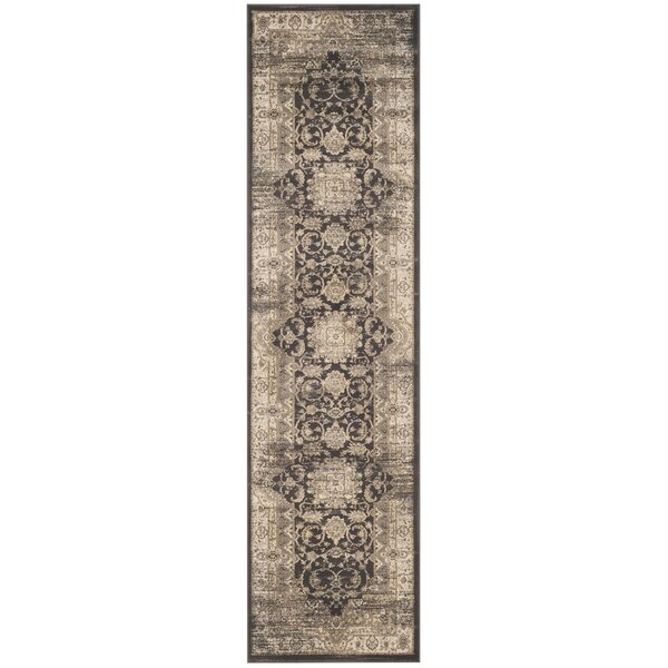 Romana Black/Ivory Area Rug by Ophelia & Co.