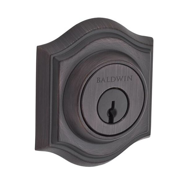 Traditional Arch Single Cylinder Deadbolt with Smartkey by Baldwin