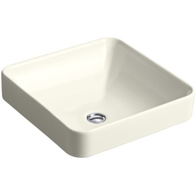 Ceramic Square Sink Overflow Biscuit photo