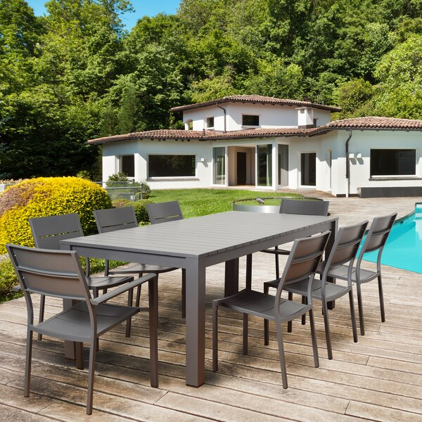 Netto 9 Piece Dining Set by Beachcrest Home