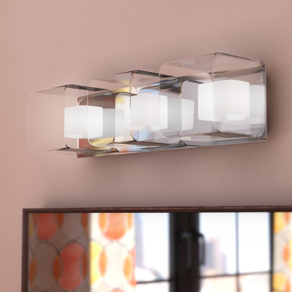 Stephen Clear/Frosted Glass 3-Light Bath Bar by Zipcode Design