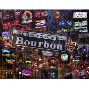Bourbon Street by Giesla Graphic Art on Wrapped Canvas by Hadley House Co
