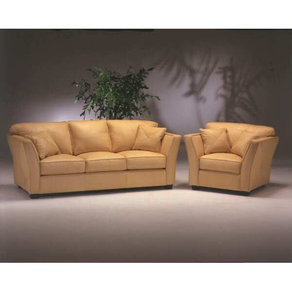 Manhattan Leather Configurable Living Room Set by Omnia Leather