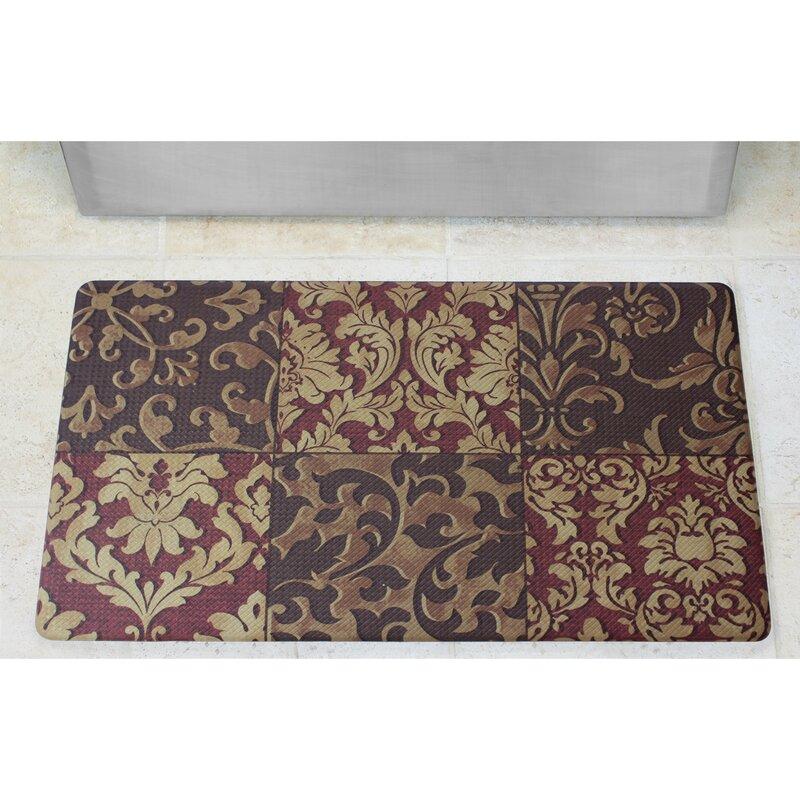 Anti Fatigue Basket Weave Printed Memory Foam Comfort Kitchen Mat