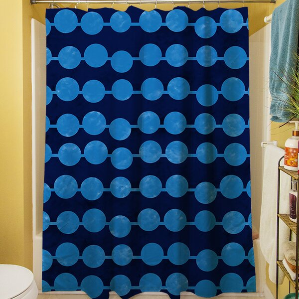 Line Dots Shower Curtain by Manual Woodworkers & Weavers