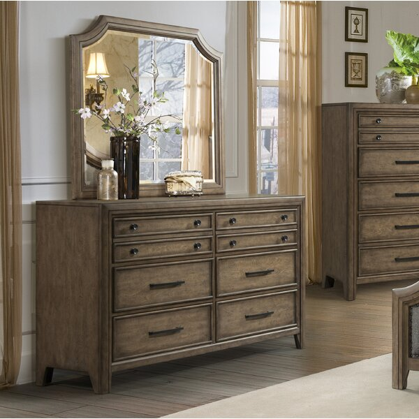 Odette 6 Drawer Double Dresser with Mirror by One Allium Way