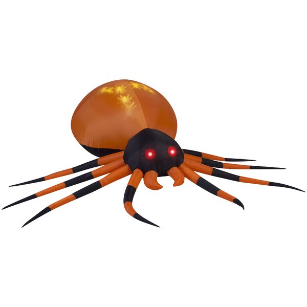 Projection Whirl a Motion Spider LG Inflatable by The Holiday Aisle