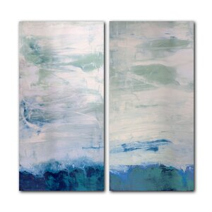 'Abstract' 2 Piece Graphic Art on Canvas Set by Mercury Row