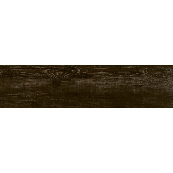 Lakewood 8 x 34 Porcelain Field Tile in Dark Brown by Emser Tile