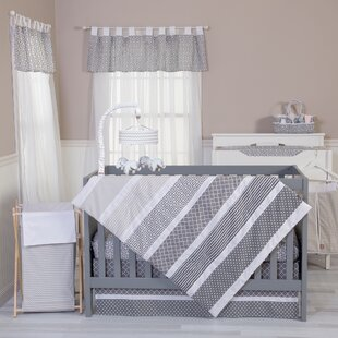 Best Reviews Towne Gray 5 Piece Crib Bedding Set By Harriet Bee