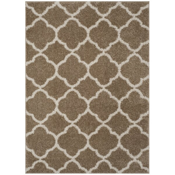 Helsel Dark Beig/Ivory Area Rug by Wrought Studio