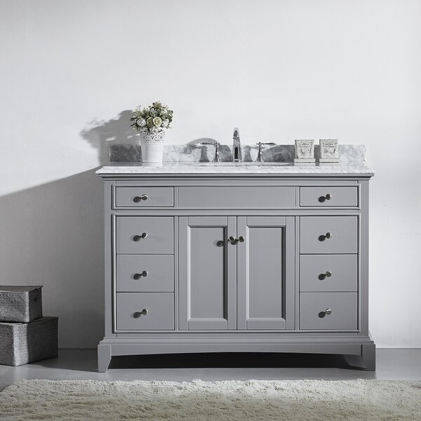 Pineville 48 Single Bathroom Vanity Set by Charlton Home