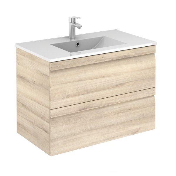 Kuykendall 32 Wall-Mounted Single Bathroom Vanity Set with Mirror