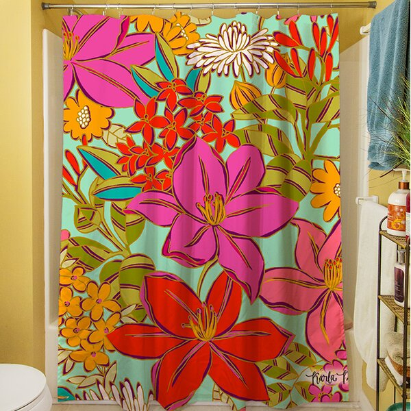 Main Mint Shower Curtain by Manual Woodworkers & Weavers