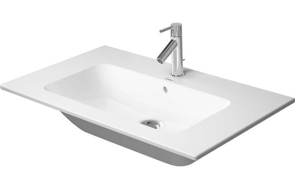 Ceramic Rectangular Vessel Bathroom Sink with Overflow by Duravit