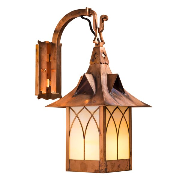 Wester LED Outdoor Wall Lantern by Millwood Pines