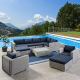 Cabral 10 Piece Sectional Seating Group with Cushions bySol 72 Outdoor