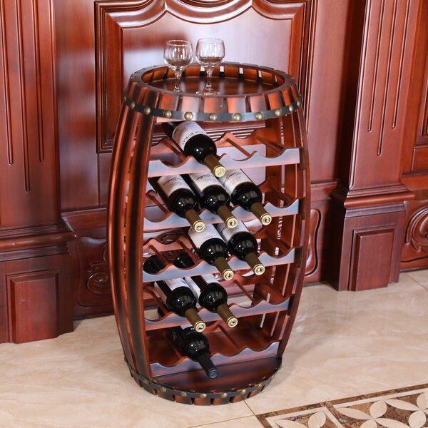 Jeanette Barrel Shaped 23 Bottle Floor Wine Bottle Rack by Fleur De Lis Living Fleur De Lis Living