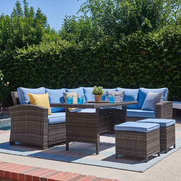 Lisbeth 5 Piece Sectional Seating Group by Andover Mills
