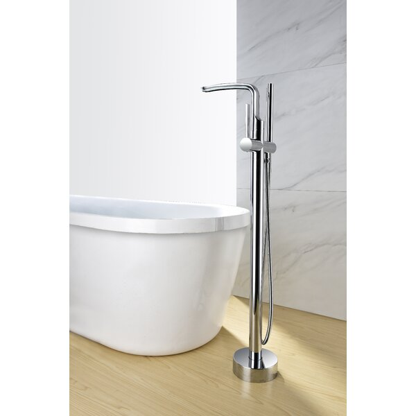 Sevenfalls Single Handle Floor Mounted Freestanding Tub Filler Faucet With Hand Shower By Eisen Home