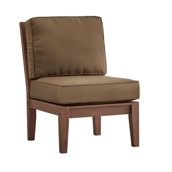 Brook Hollow Armless Chair with Cushion by Three Posts