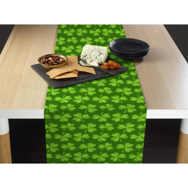 Esters Lucky Clovers Table Runner by The Holiday Aisle