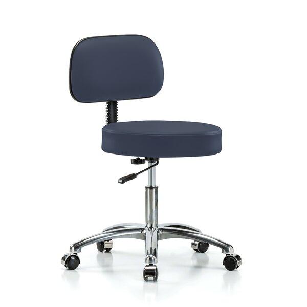 Height Adjustable Exam Stool with Basic Backrest