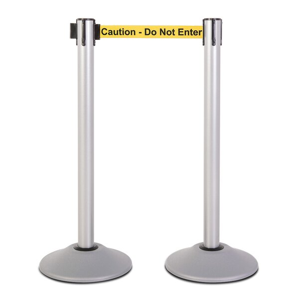 U2100 Series Steel Stanchion (Set of 2) by US Weight