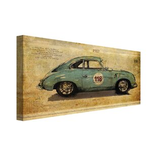 Racer 2 by Sidney Paul and Co Graphic Art on Wrapped Canvas by Portfolio Canvas Decor