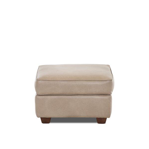 Jennifer Leather Ottoman by Wayfair Custom Upholstery™