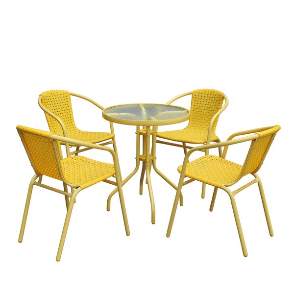Swint 5 Piece Rattan Complete Patio Set by Bay Isle Home
