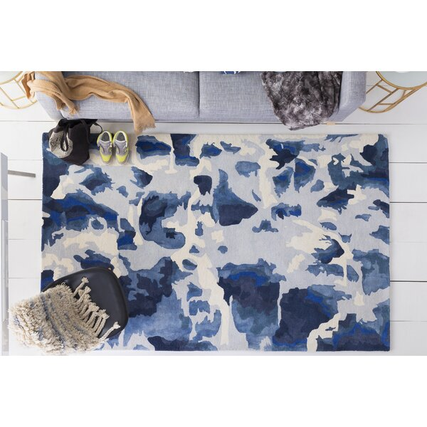 Ginsburg Hand-Tufted Blue Area Rug by Ivy Bronx