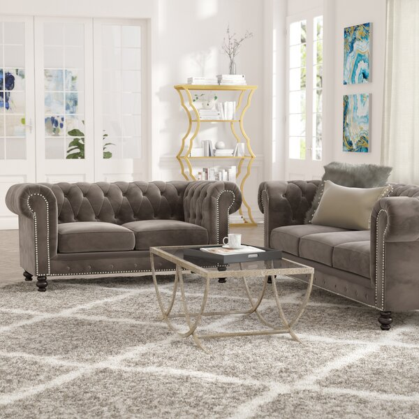 Best #1 Brooklyn 2 Piece Living Room Set By Mistana New