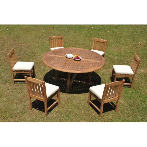 Precita 7 Piece Teak Dining Set by Rosecliff Heights