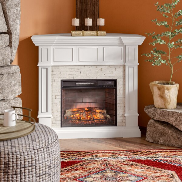 Shanks White Corner Electric Fireplace By Alcott Hill