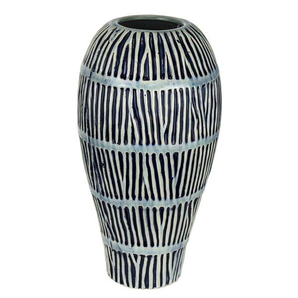 Stripline Ceramic Table Vase by Donny Osmond Home