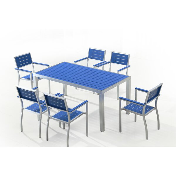 Villanueva 7 Piece Dining Set by Latitude Run